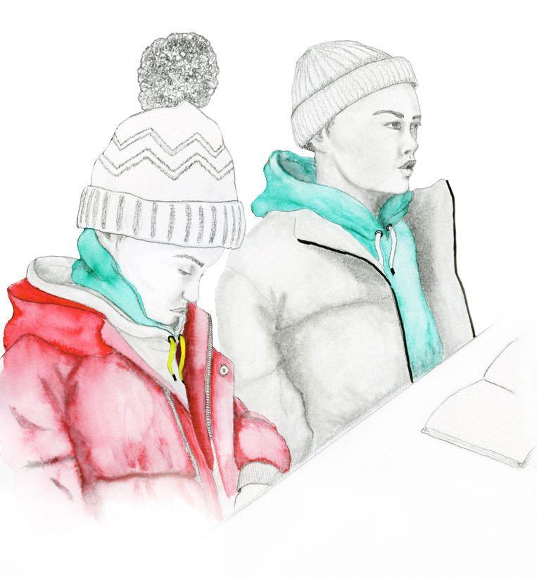 """""""Als de wind uit de verkeerde hoek komt, wat nogal eens gebeurt, zitten we hier vol in de kou."""" Beeld Inge Duiker"""