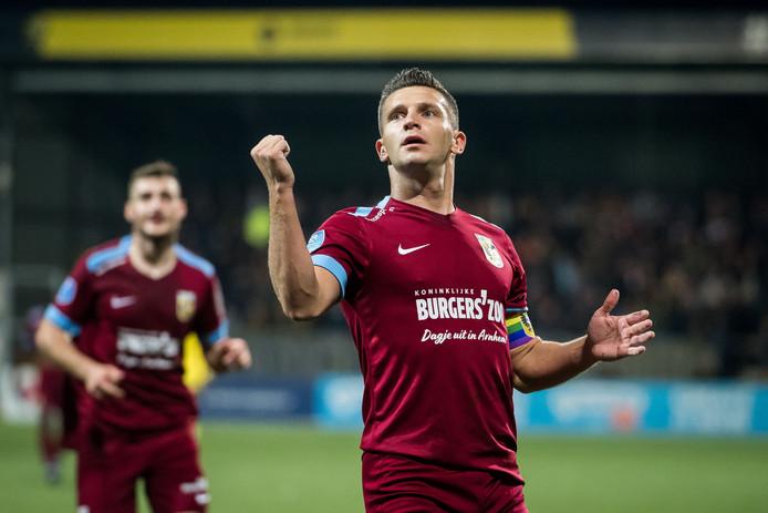 Bryan Linssen scoorde twee keer in Venlo.
