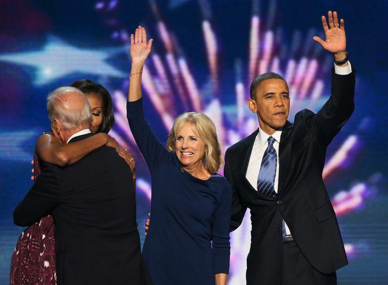 Obama met Jill Biden. Beeld getty