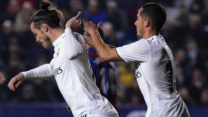 Real en Courtois winnen nipt op bezoek bij Levante, Bale besliste de partij met discutabele strafschopgoal