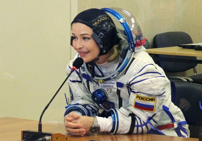 L'actrice Yulia Peresild, membre de l'équipage