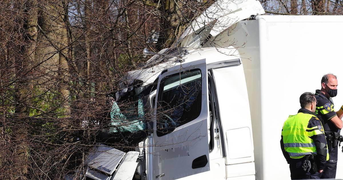 Vrachtwagenchauffeur gewond na ongeluk op snelweg bij Heesch.