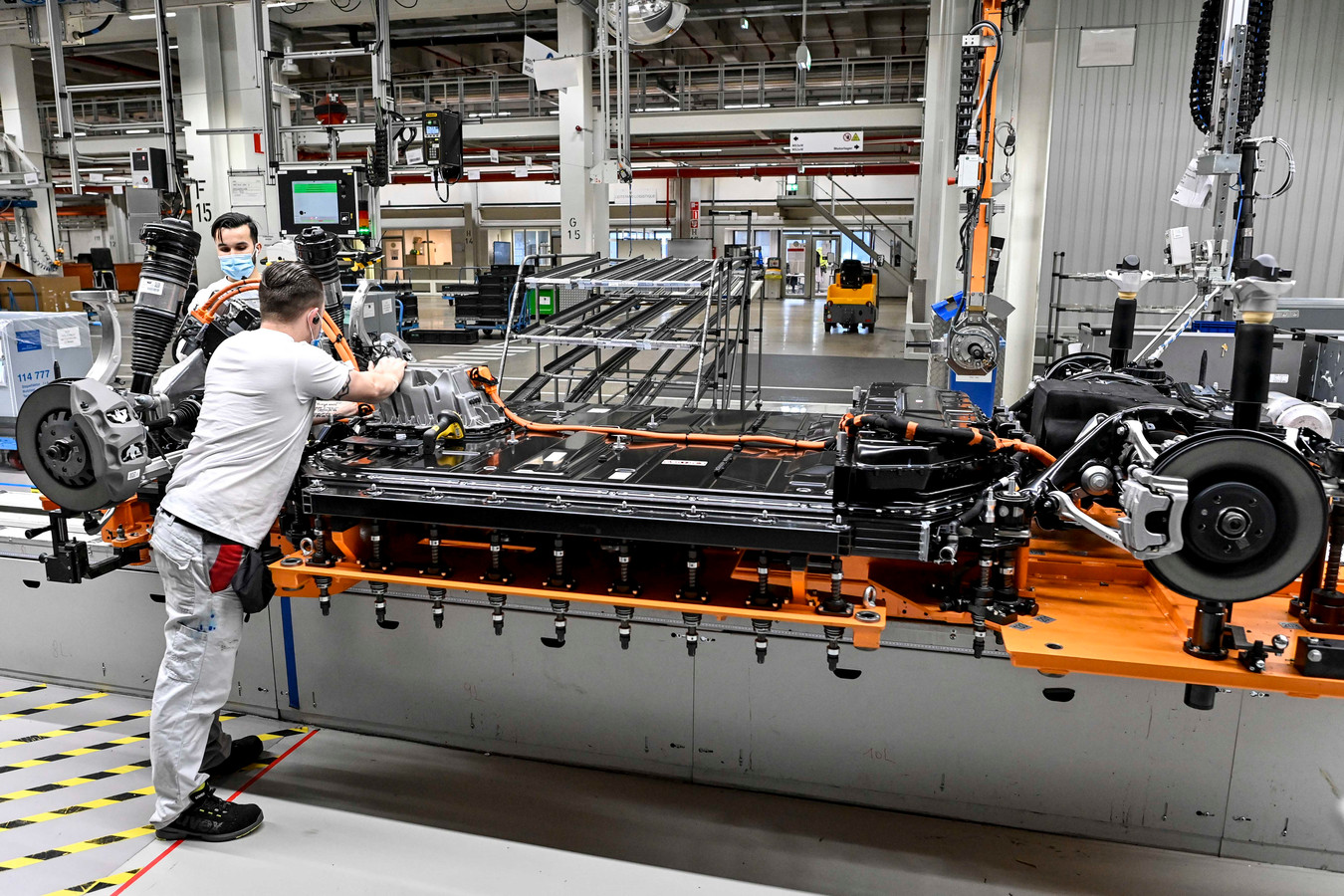 De Audi-productie in de fabriek in Vorst zal eind maart opnieuw een week stilliggen.