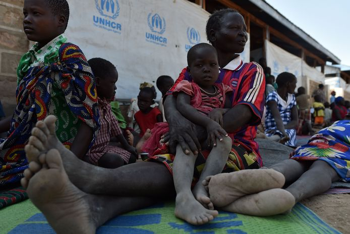 Vluchtelingen uit Zuid-Soedan in het Kakuma-vluchtelingenkamp in Kenia.
