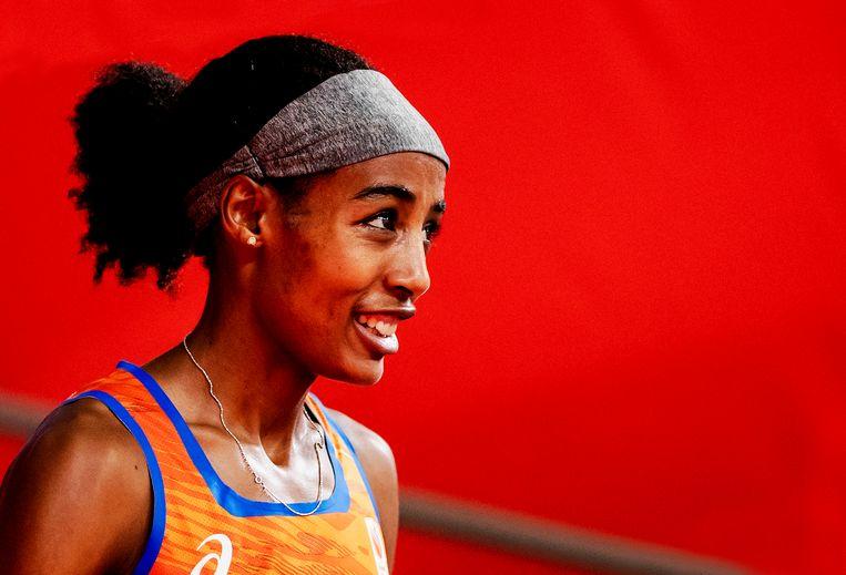 Haar prestaties van de voorbije jaren hebben van Sifan Hassan een goedbetaalde atleet gemaakt. 'Ze kan lopen waar ze maar wil lopen. Kan altijd kiezen.' Beeld ANP/Robin van Lonkhuijssen