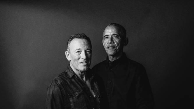 Obama en Springsteen over hun sterke vrouwen: 'Wij zijn mensen die grenzen nodig hadden'