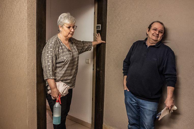 Cathy en haar man Reynald. Beeld Joris van Gennip