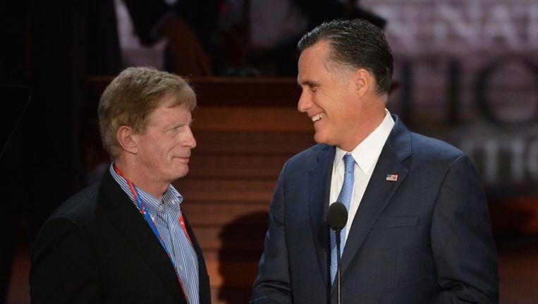 Stuart Stevens en Mitt Romney Beeld afp