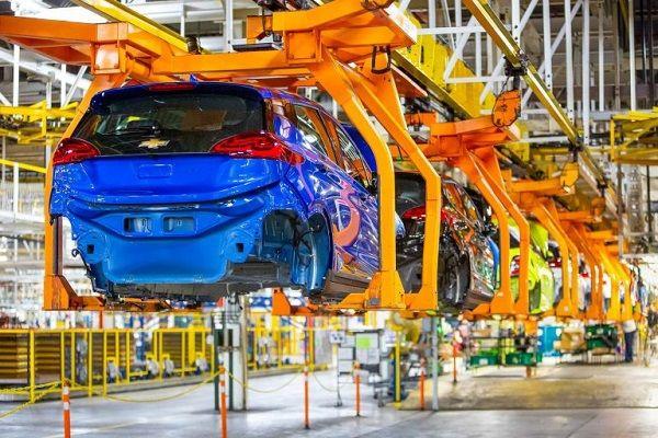 Een autofabriek in de Verenigde Staten.