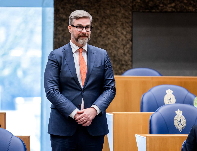 Sidney Smeets (D66) bij zijn beëdiging als lid van de Tweede Kamer.  Beeld ANP