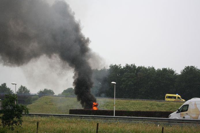 Vliegtuigongeluk Breda Airport bij Seppe 31-5-2018 Foto Ton de Haan