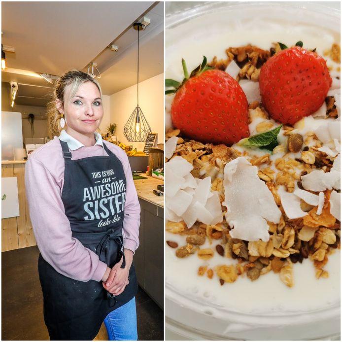 Luisa Musseler pakt in haar nieuwe ontbijtbar uit met gezonde en lekkere voeding.