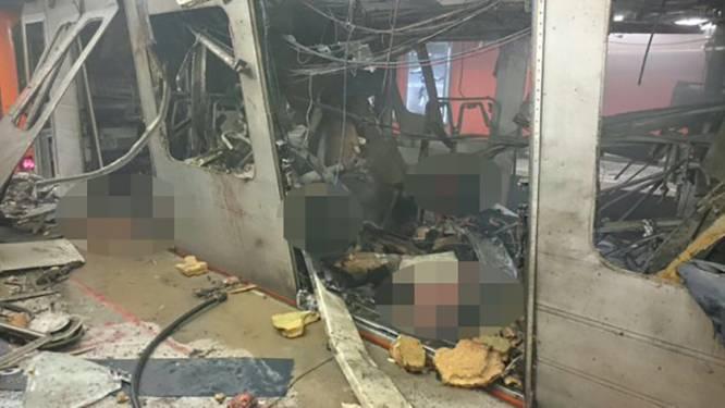 Bloedbad in Brusselse metro, dader nog op de vlucht