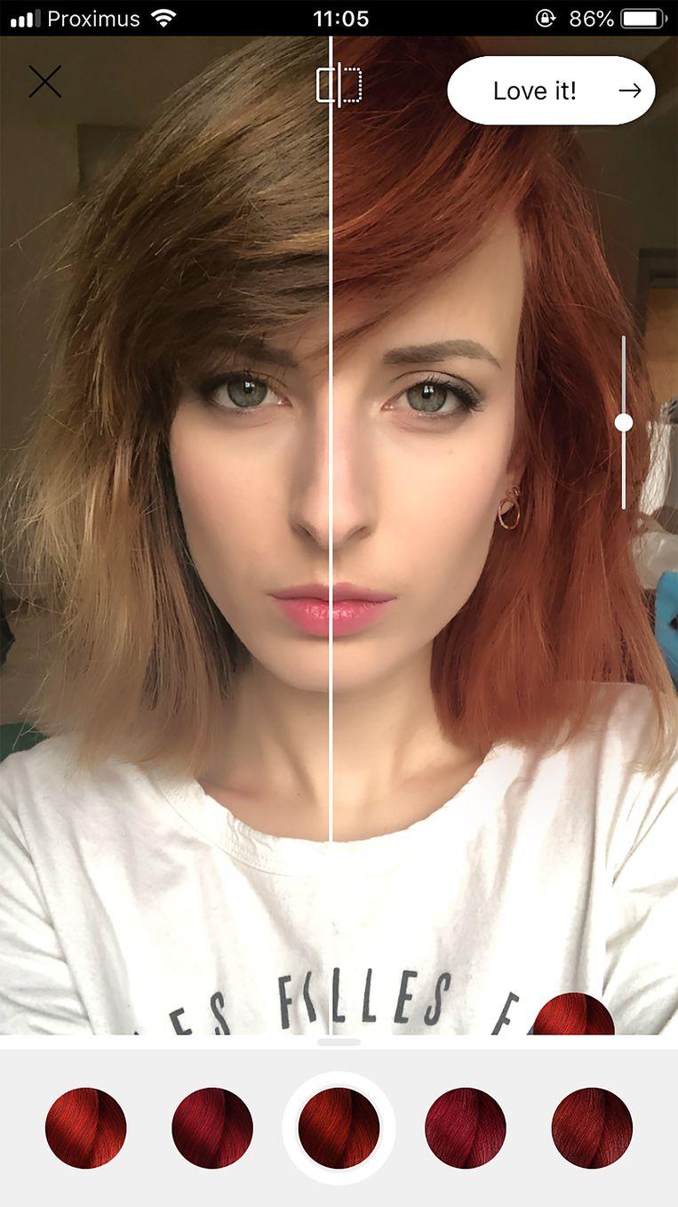 Met apps als Style My Hair van L'Oréal test je makkelijk of rood jou ook staat.