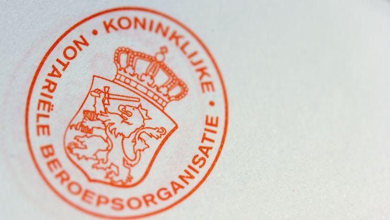 De KNB houdt de mogelijkheid open om de schade later op de notaris te verhalen. Beeld anp