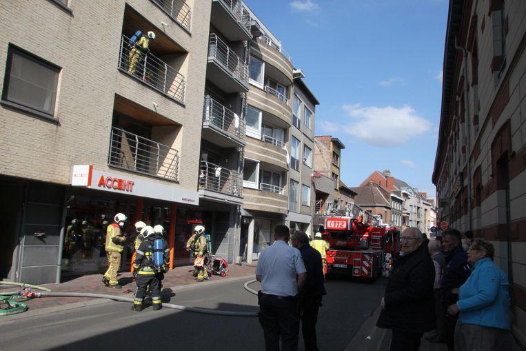 In een appartement boven interimkantoor Accent Jobs ontstond de brand.