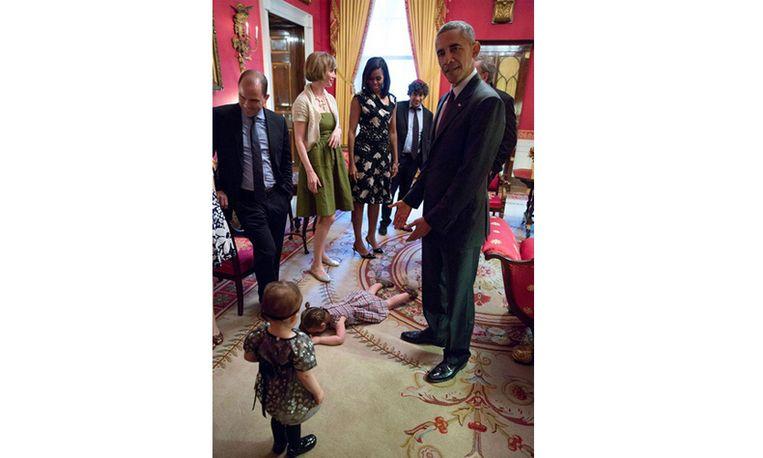 Op bezoek bij Obama? Dit meisje had er écht geen zin