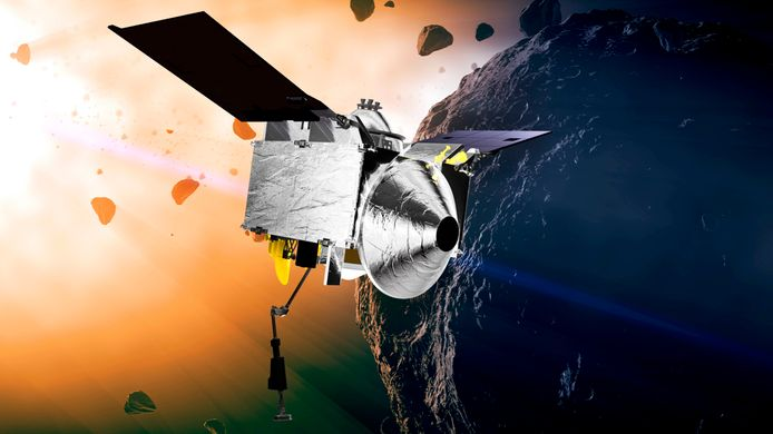 Illustratie van de OSIRIS-REx.