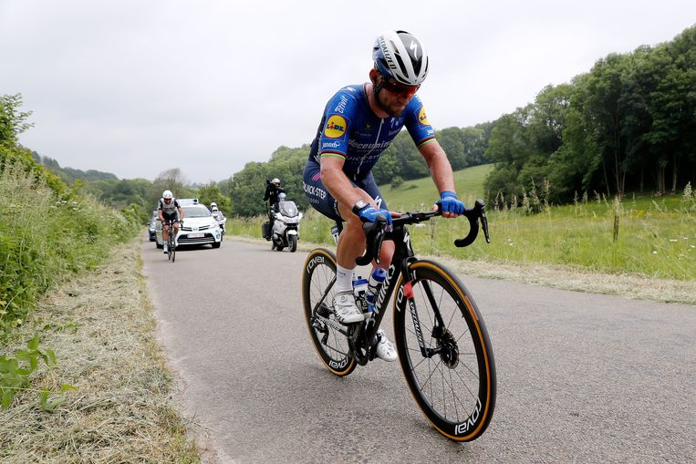 Mark Cavendish in de Baloise Belgium Tour 2021. Hij won een etappe. Beeld Getty
