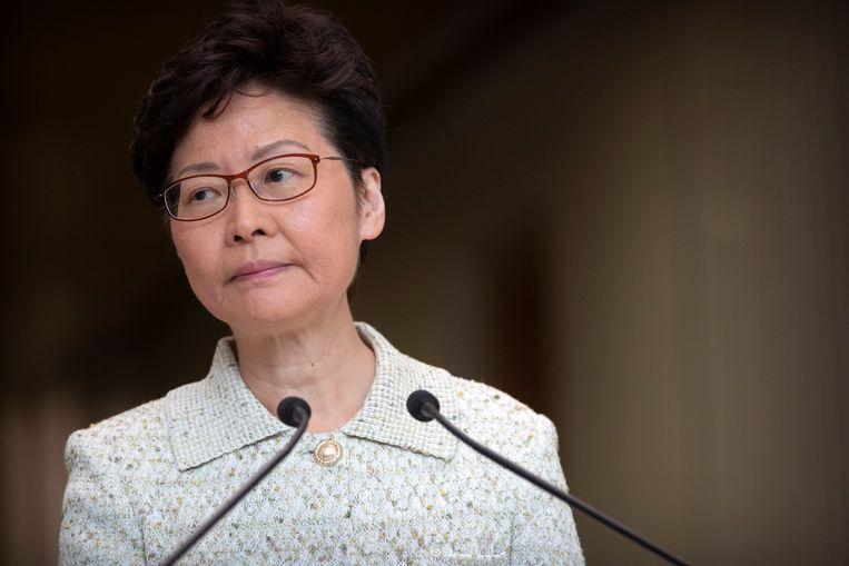Carrie Lam, leider van Hongkong.