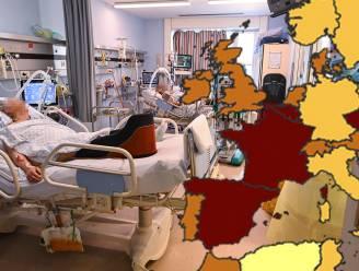 België kleurt rood op nieuwe coronakaart: we zijn nu bij slechtste vijf landen van Europa
