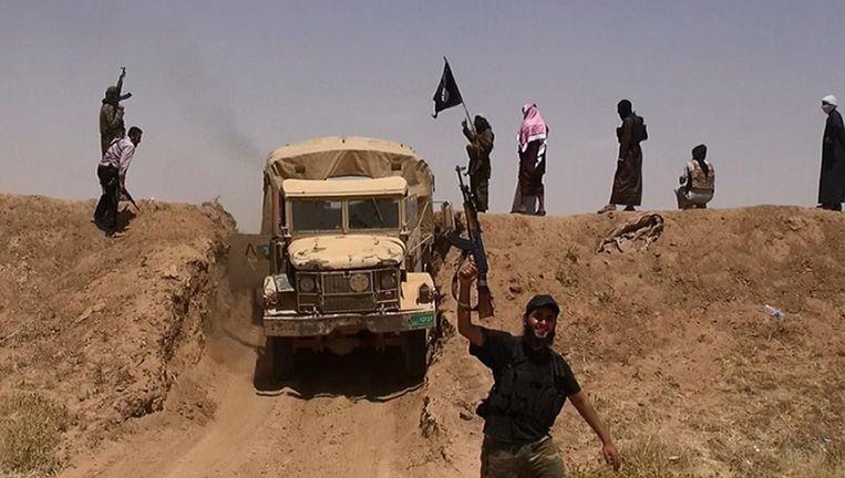 Jihadstrijders van de terreurgroep ISIS. Beeld afp