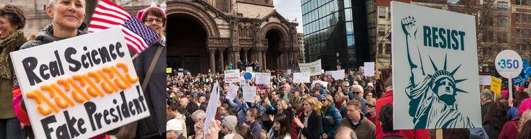 Protest in Boston Beeld Adri de Vrieze