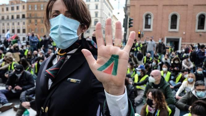 Personeel Alitalia op straat om redding luchtvaartmaatschappij te eisen
