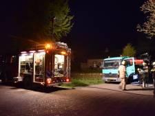 Vrachtwagen in brand in Noordgouwe