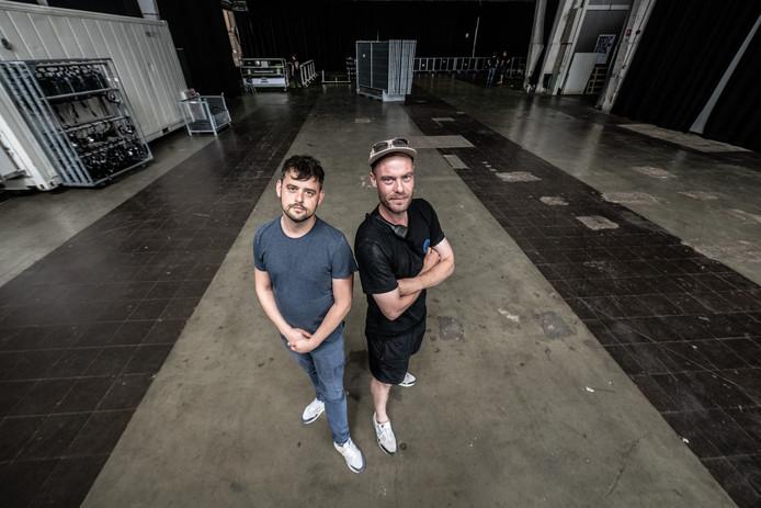 Organisatoren Drift Festival Diede van Overbeek (links) en Brent Roozendaal in de Vasim