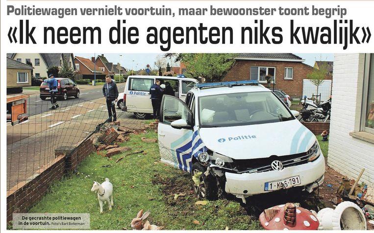 Het artikel in deze krant na de crash van 29 april vorig jaar.