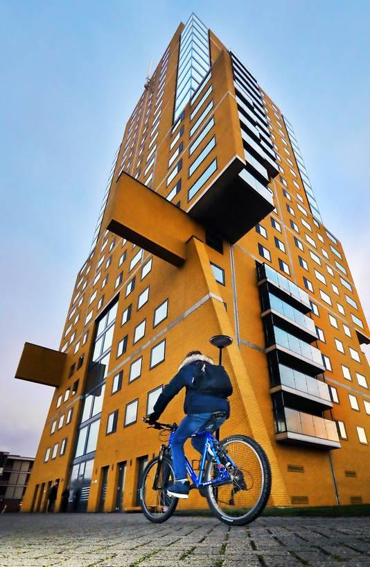Hoe het niet moet: Pharos-woontoren op de Loevesteinlaan naast het Zuiderpark in Zuidwest.