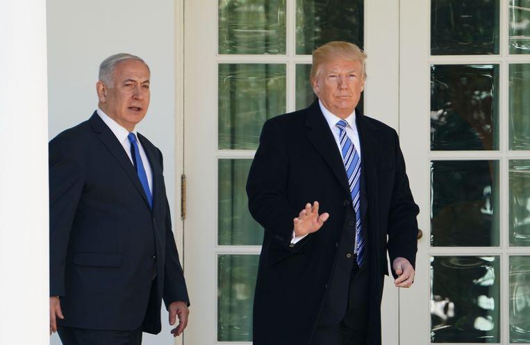 De Israëlische premier Benjamin Netanyahu en de Amerikaanse president Donald Trump.