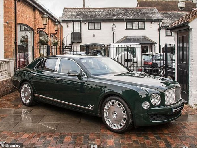 De Bentley Mulsanne van Queen Elizabeth II.