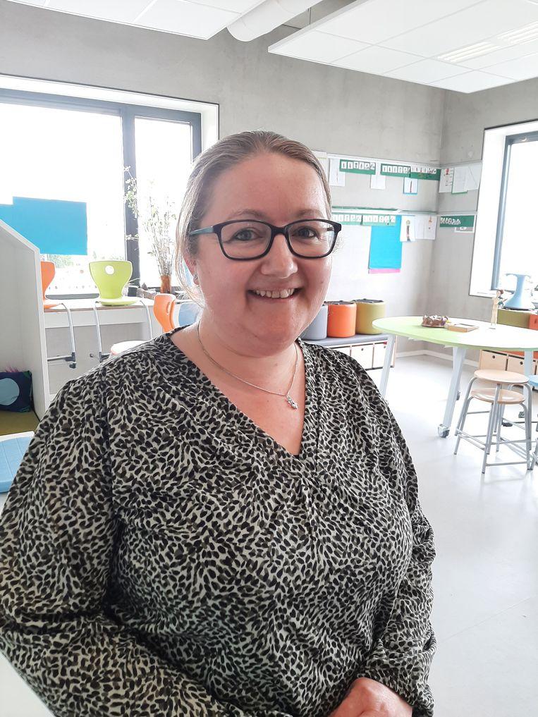 Anja Sikkenga, leerkracht en rekencoördinator  op Jenaplanschool De Krullevaar in Hoogeveen.  Beeld