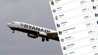 Ryanair pakt uit: tientallen bestemmingen voor nog geen vijf euro
