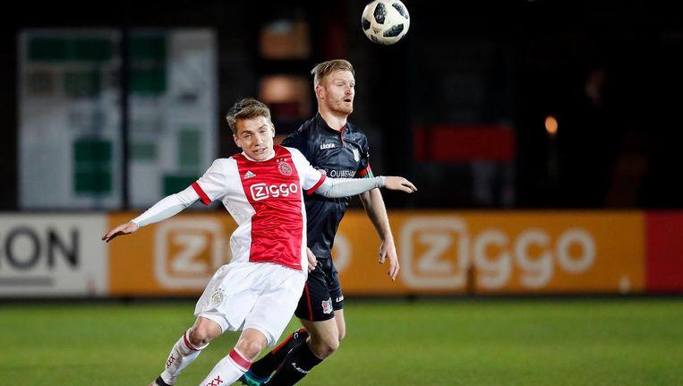 Ajacied Teun Bijleveld tijdens de eerdere wedstrijd tegen NEC. Beeld Pro Shots