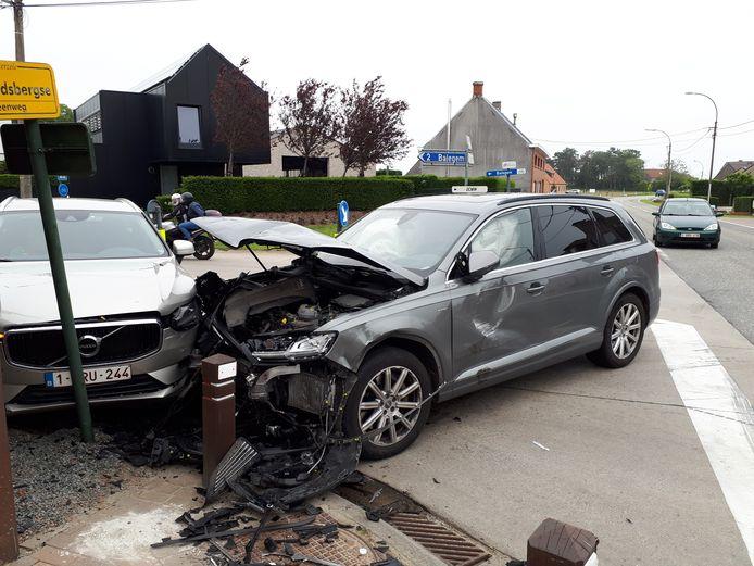 Zwaar ongeval op IJshoute in Balegem.
