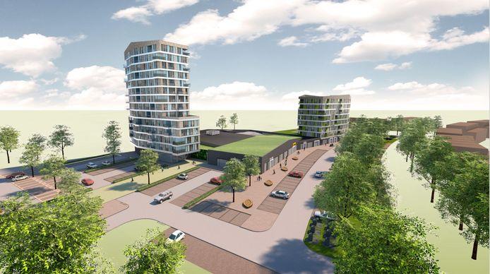Woontoren Apollo wordt met 47 meter het hoogste woongebouw in Hengelo.