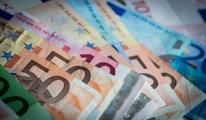 Eurobankbiljetten, geld, biljetten.