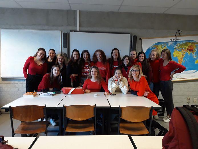Rood was dé kleur van de dag in Mechelen.