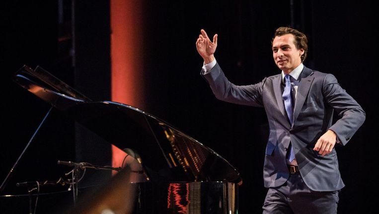 Thierry Baudet op het partijcongres in de RAI in Amsterdam Beeld ANP