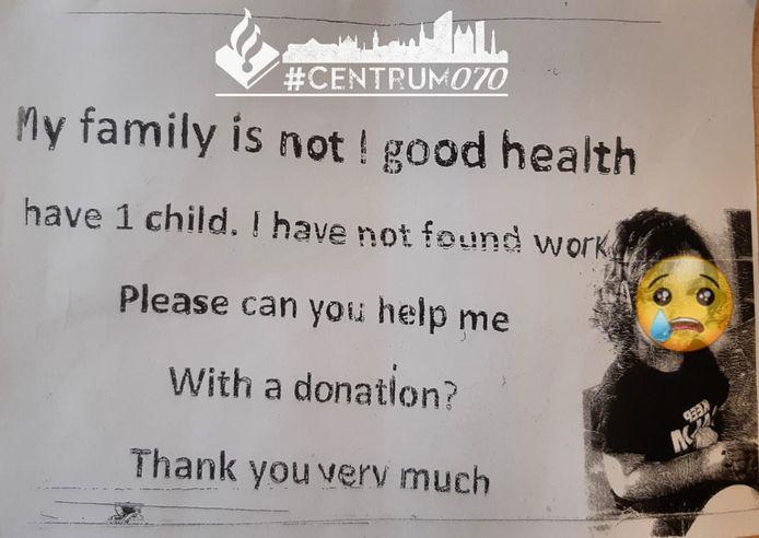 Een van de flyers die in de binnenstad wordt uitgedeeld.