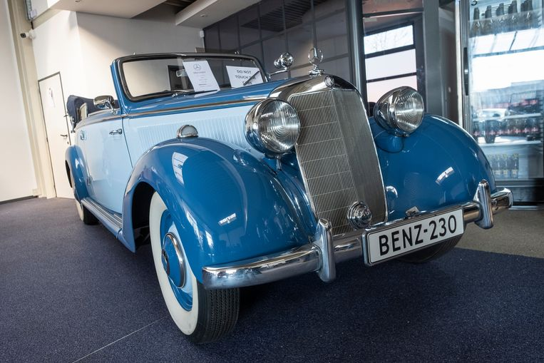 Deze Mercedes-Benz werd tijdens WOII door de geallieerden uit Duitse handen genomen.