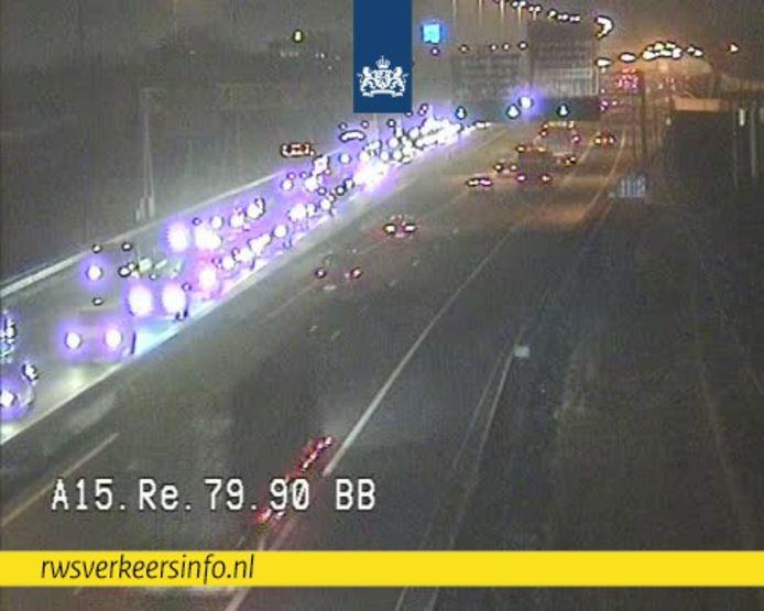 rwsverkeersinfo.nl meldt file op de A15