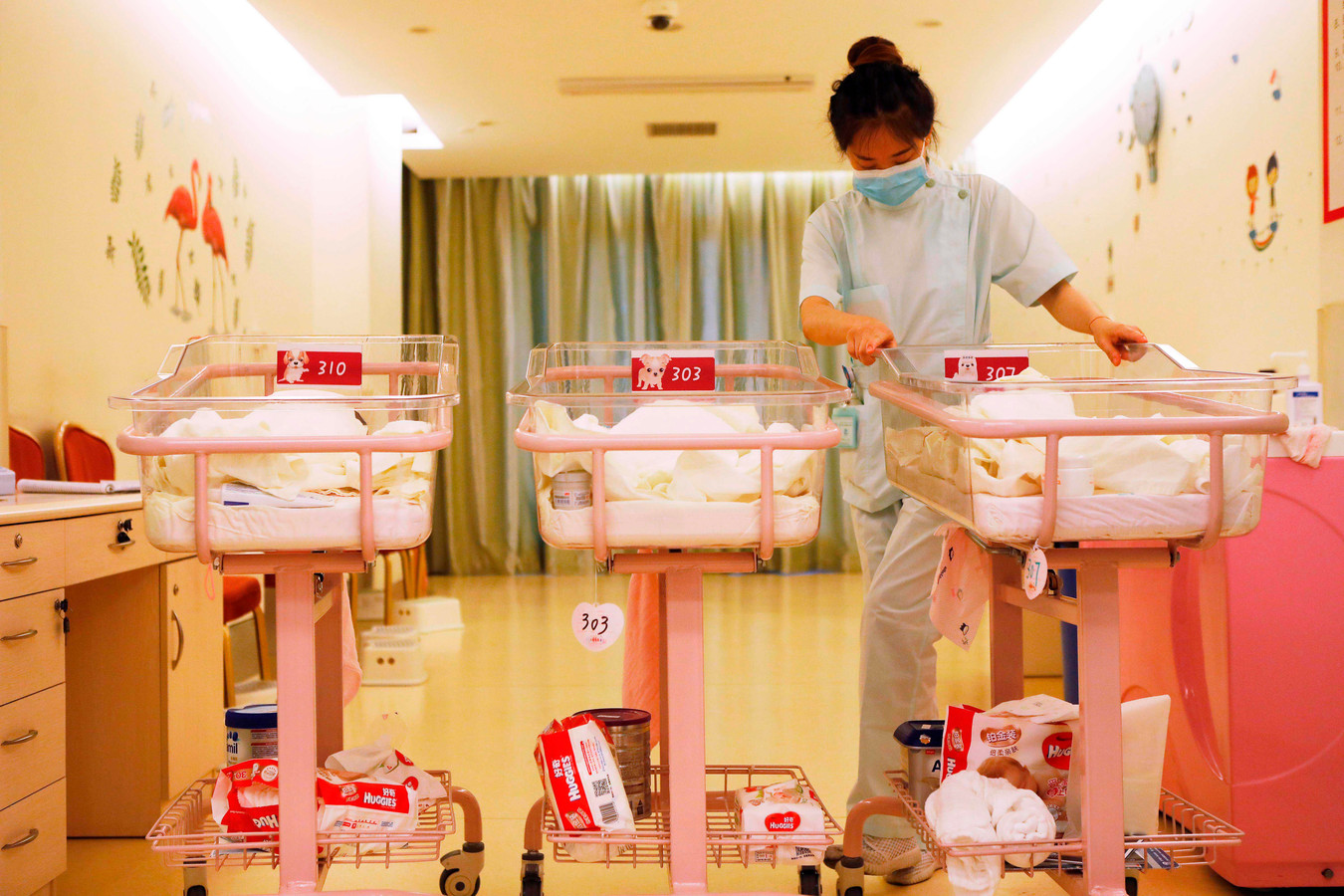 Het geboortecijfers in China was in 2019 het laagst sinds de stichting van de Volksrepubliek China.
