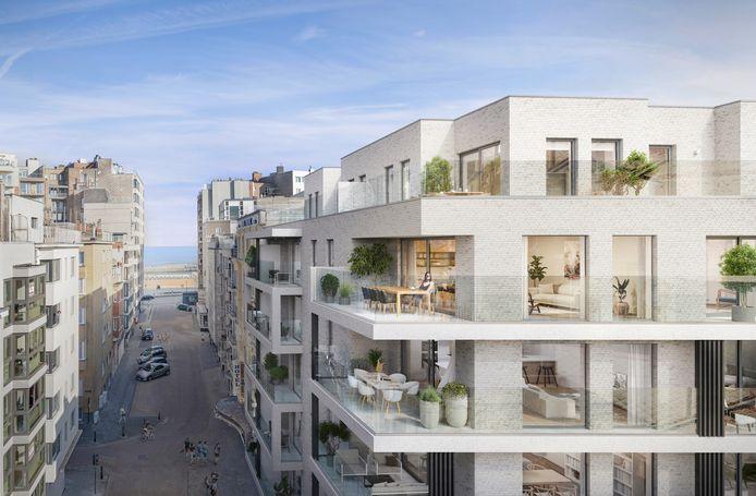 Projectontwikkelaar Steenoven uit Roeselare bouwt een nieuw project met 36 appartementen in de Hofstraat