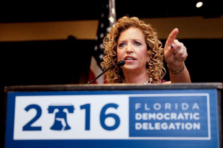 Debbie Wasserman, de voorzitter van de Democratische Partij, is opgestapt na het lekken van de e-mails. Beeld ap