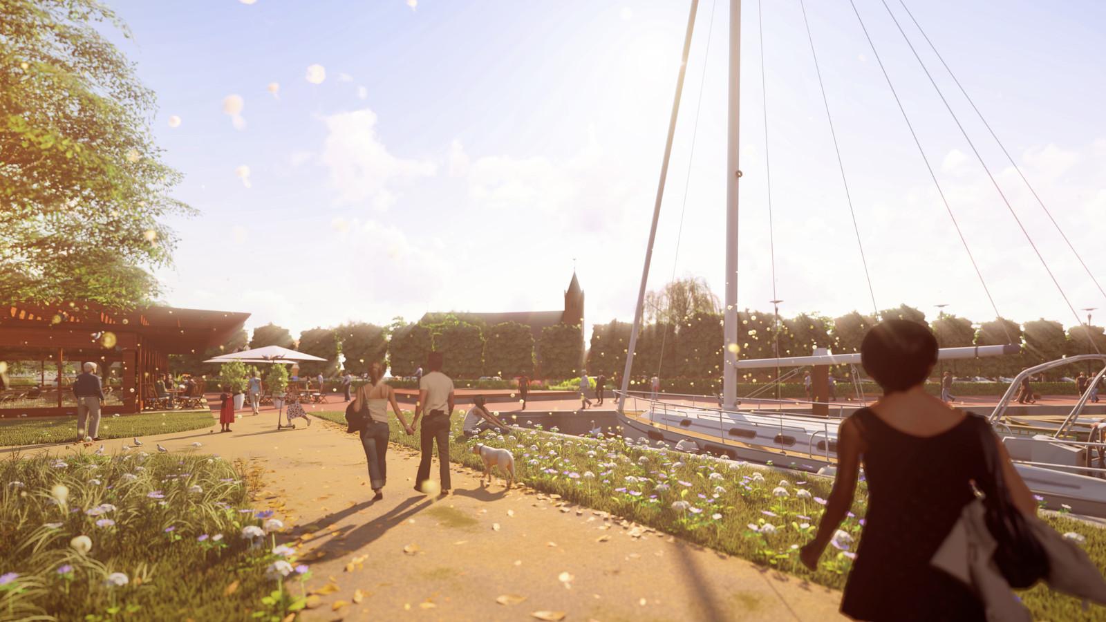 Een visualisatie van het Lingepark
