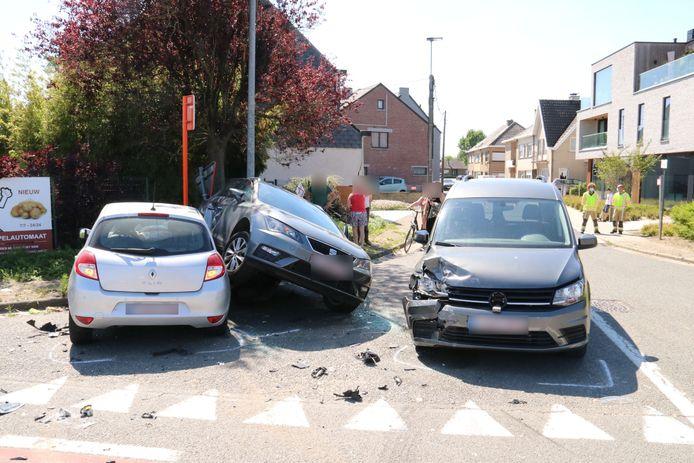 De materiële schade na het ongeval was groot.